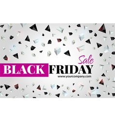 Black friday sale flyer vector image vector image