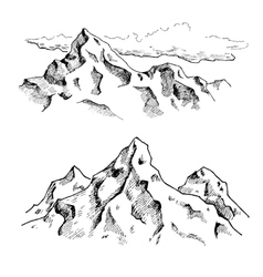 mountains drawing Hand drawn mountains vector image