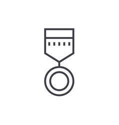 round medal line icon sign vector image