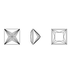 square shapes of a gemstone against white backgrou vector image vector image