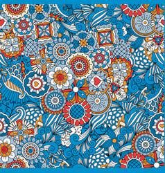 blue floral decorative background vector image