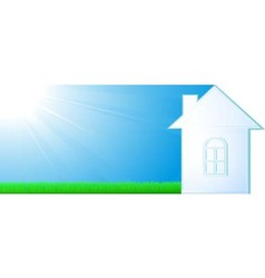 house silhouette on sky background vector image vector image