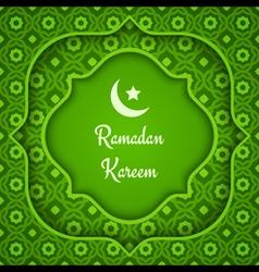 arabic background ramadan green vector image