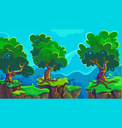 cartoon of landscape vector image