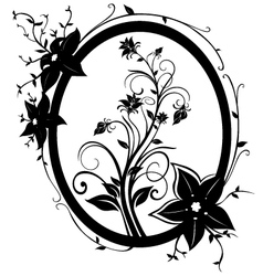 fram flowers 01 vector image