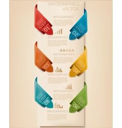 Info graphics banner with numbers Retro design vector image vector image