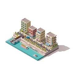isometric town street vector image vector image