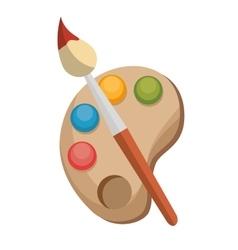 paint brush color palette design vector image