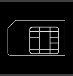 sim card the white path icon vector image