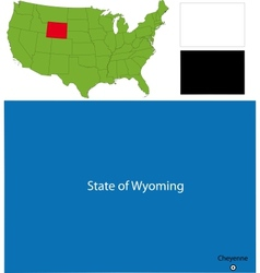 Wyoming map vector image vector image