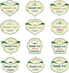 label assortment vector image vector image