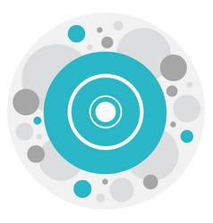 of movie symbol on cd icon vector image