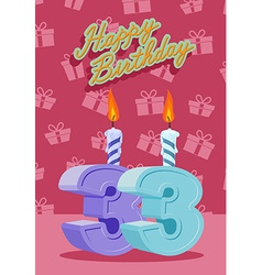 33 years celebration 33nd happy birthday vector image vector image
