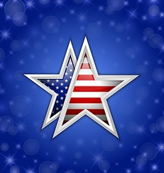 american star vector image