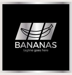 banana slash logo vector image