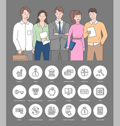 bank online money transfer payment online vector image