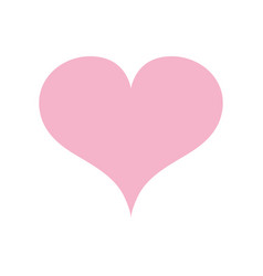 Beauty heart a romance decoration design vector
