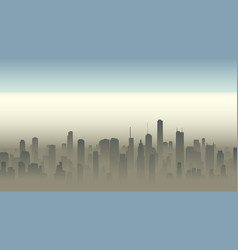 big city in haze vector image