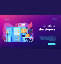 big data engineering concept landing page vector image