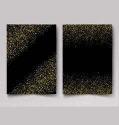 black background with gold glitter sparkle vector image
