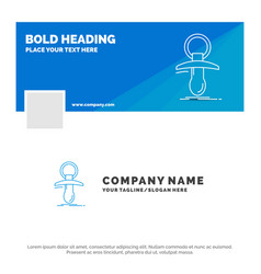 Blue business logo template for baby dummy newbie vector