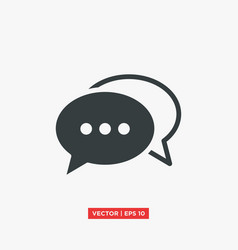 bubble speech chat icon vector image