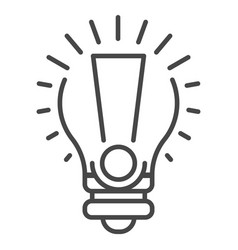 bulb new idea icon outline style vector image