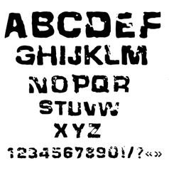 Charcoal alphabet grunge vector