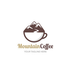 coffee logo vintage shop cappuccino cup badge vector image