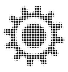 cog halftone icon vector image