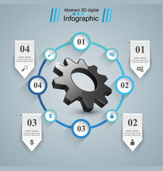 Cogwheel gear icon business infographics vector