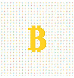 coin bitcoin on a digital background vector image