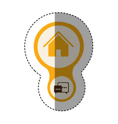 Color home connection server icon vector