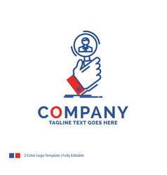 company name logo design for recruitment search vector image