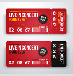 Concert ticket design template for party festival vector