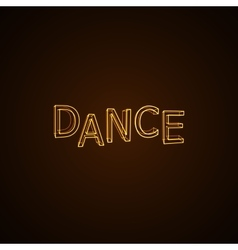 Dance neon sign vector image