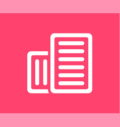 Document icon in flat style vector