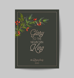 elegant merry christmas and new year 2021 cards vector image