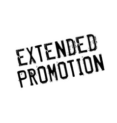 Extended promotion rubber stamp vector