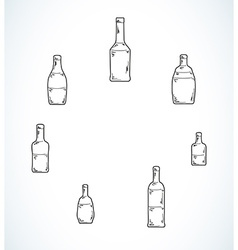 Few different bottles vector