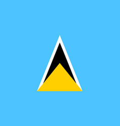 flag of saint lucia vector image