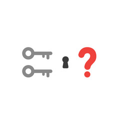 flat design style concept of two key icons with vector image