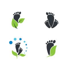 foot therapist logo icon vector image