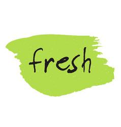 fresh vegan eco bio raw organic green design vector image vector image