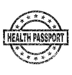 grunge textured health passport stamp seal vector image