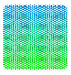 Halftone blue-green filled square icon vector