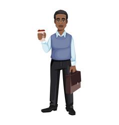 Handsome african american business man vector