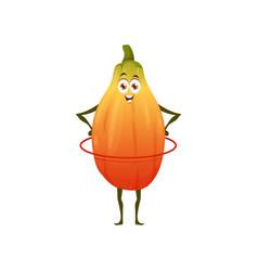 Healthy papaya fruit food fitness energy cartoon vector