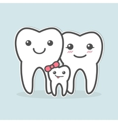 Healthy teeth family vector