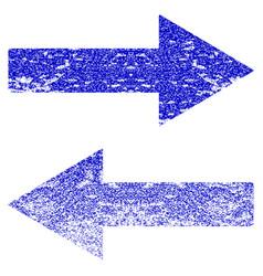 Horizontal flip arrows grunge textured icon vector